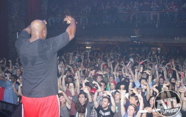 Fort Knox hyping up the crowd for the Run The Jewels show in Athens, GA.