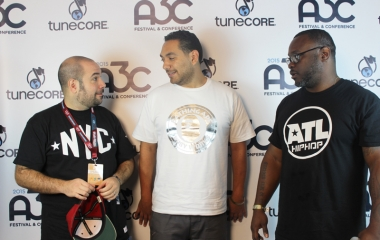 Peter Rosenberg & Cipha Sounds at the 2015 A3C festival in Atlanta.