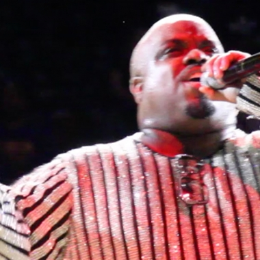 CeeLo night at Atlanta Hawks game at Philips Arena