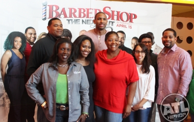 Al Horford of the Atlanta Hawks at Pre-screening of Barbershop: The Next Cut in Atlanta