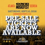 One Music Fest Pre-Sale Tickets
