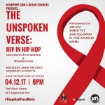 4/12 The Unspoken Verse Documentary Screening w/ Joe Stu, Shred TVT, Suni Solomon, Rahbi and Eli The Assassin
